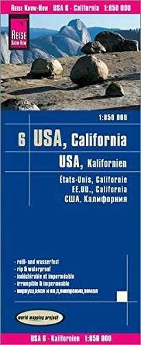 USA6: CALIFORNIA 1:850.000 IMPERMEABLE