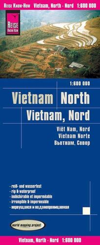 VIETNAM NORTE 1:600.000 IMPERMEABLE