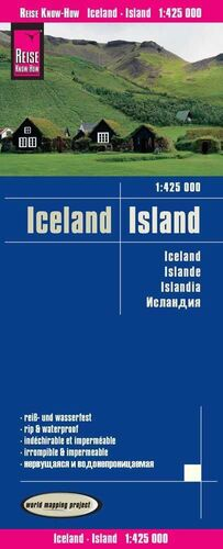 MAPA ISLANDIA  1:425.000