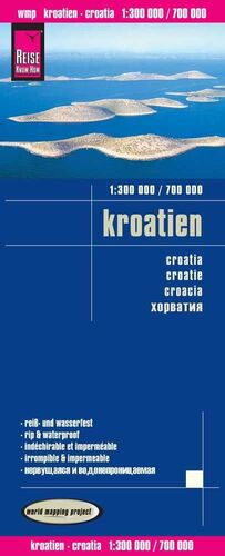 CROACIA 1:300.000 / 1:700.000 IMPERMEABLE