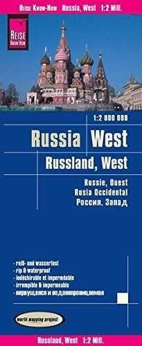RUSIA (ZONA EUROPEA) 1:2.000.000 IMPERMEABLE