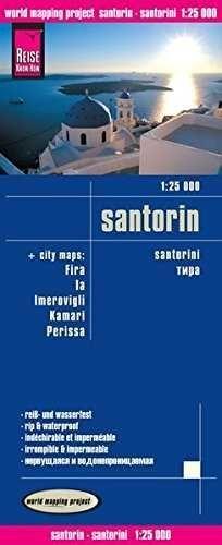 SANTORINI 1:25 000 IMPERMEABLE