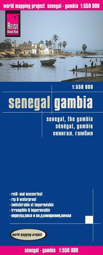 SENEGAL - GAMBIA 1:1550000 IMPERMEABLE