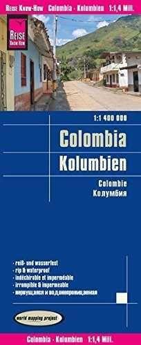 REISE KNOW-HOW LANDKARTE KOLUMBIEN COLOMBIA