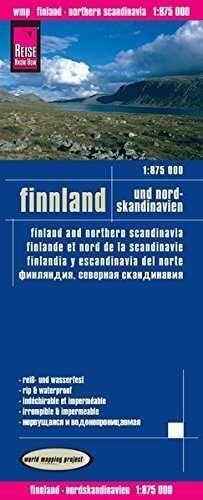 FINLANDIA Y NORTE DE ESCANDINAVIA 1:875.000 IMPERM