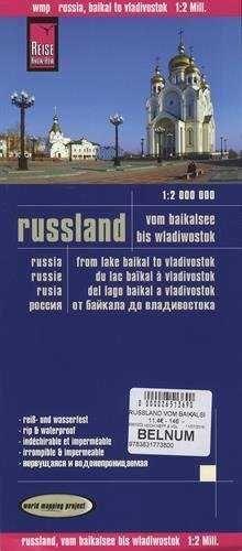 RUSIA: DEL LAGO BAIKAL A VLADIVOSTOK 1:2.000.000 IMPERMEABLE