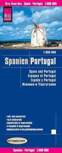 ESPAÑA & PORTUGAL 1:900.000 IMPERMEABLE