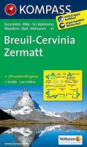 BREUIL CERVINIA ZERMATT 87  *MAPA KOMPASS 2013*