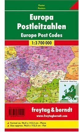 EUROPA CON CODIGOS POSTALES INGLES 1:3.700.000 - 1