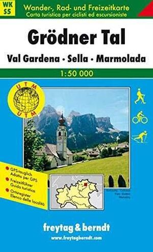 MAPA GRODNER TAL/VAL  GARDENA SELLA MARMOLADA (DOLOMITAS)