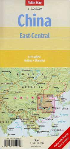 CHINA EAST CENTRAL  *NELLES MAP 2013*   1 : 1 750 000