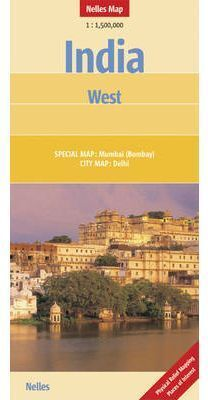MAPA INDIA WEST 1:1.500.000 -NELLES