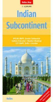 INDIAN SUBCONTINENT 1:4.500.000 -NELLES