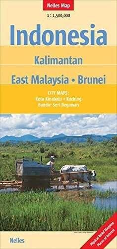 INDONESIA KALIMANTAN EAST MALAYSIA BRUNEI  *NELLES MAP 2011*