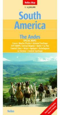 SOUTH AMERICA. THE ANDES 1:4.500.000 -NELLES