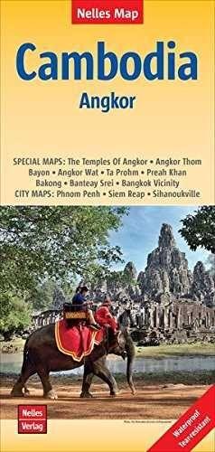 CAMBODIA ANGKOR  *NELLES MAP 2015*   1 : 1 500 000