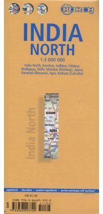 MAPA INDIA NORTE 1:3000000