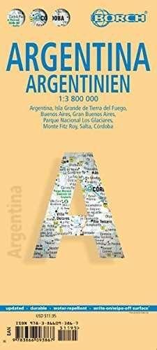 MAPA ARGENTINA 1: 3800000