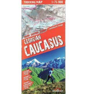 GEORGIAN CAUCASUS **TREKKING MAP** 1:75.000