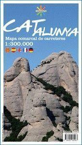 CATALUNYA MAPA COMARCAL DE CARRETERES