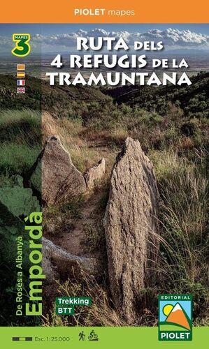 RUTA DELS 4 REFUGIS DE LA TRAMUNTANA, 3 MAPES TREKKING - BTT
