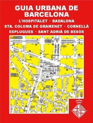 GUIA URBANA DE BARCELONA, L?HOSPITALET DE LL., BADALONA, STA. COLOMA DE GRAMENET