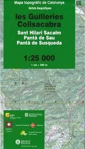66 MAPA GUILLERIES COLLSACABRA 1:25.000