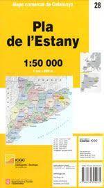 PLA DE L ESTANY MAPA COMARCAL DE CATALUNYA 1:50 000.