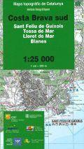 68 COSTA BRAVA SUD  (SANT FELIU DE GUÍXOLS, TOSSA DE MAR, LLORET DE MAR, BLANES 1:25.000