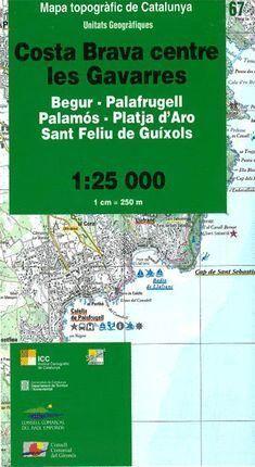 67 COSTA BRAVA CENTRE LES GAVARRES MAPA TOPOGRAFIC 1:25.000