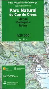 48 CAP DE CREUS MAPA ICC 1:25.000