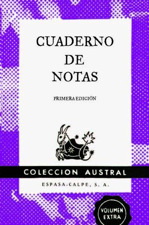 CUADERNO DE NOTAS VIOLETA 9X14CM