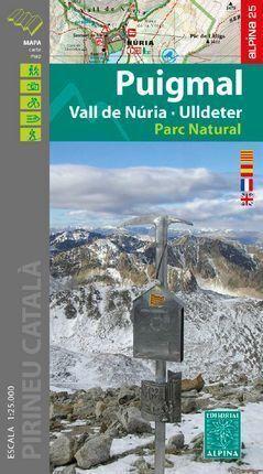 PUIGMAL VALL DE NURIA ULLDETER MAPA ALPINA