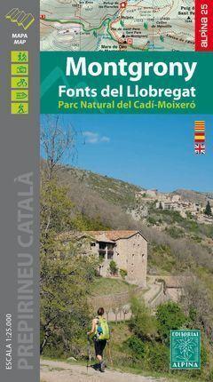 MONTGRONY - FONTS DEL LLOBREGAT (MAPA 1:25.000 + CARPETA DESPLEGABLE)