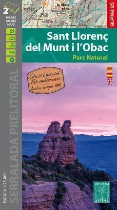 SANT LLORENÇ DEL MUNT I L?OBAC (MAPA 1:25.000 + MAPA DEL 1946)