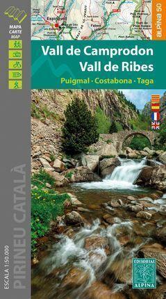 VALL DE CAMPRODON ; VALL DE RIBES (MAPA 1:50.000 + CARPETA DESPLEGABLE)
