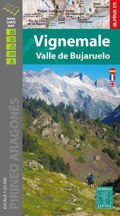 VIGNEMALE - VALLE DE BUJARUELO (MAPA 1:25.000 + CARPETA DESPLEGABLE)