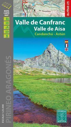 VALLE DE CANFRANC - VALLE DE AÍSA (MAPA 1:25.000 + CARPETA DESPLEGABLE)