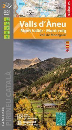 VALLS D'ÀNEU MAPA ALPINA (2 MAPES 1:25.000 + CARPETA DESPLEGABLE)