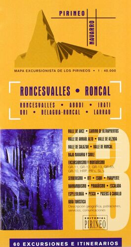 GUÍA MAPA EXCURSIONISTA DEL RONCAL Y RONCESVALLES