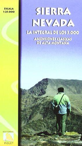 MAPA SIERRA NEVADA, LA INTEGRAL DE LOS 3000