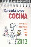 CALENDARIO DE COCINA 2013