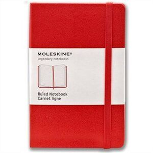 RED POCKET RULED NOTEBOOK -MOLESKINE