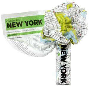 NEW YORK -CRUMPLED CITY MAP