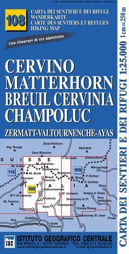 108 CERVINO MATTERHORN BREUIL CERVINIA CHAMPOLUC *MAPA IGC 2012*